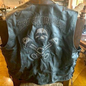 Harley Davidson Men's Thick Leather Vest